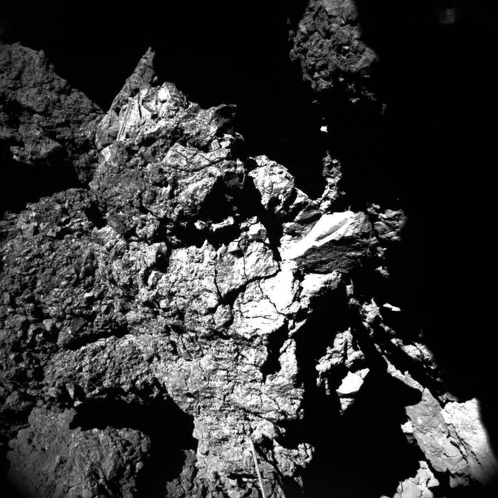 Opname door de CIVA-camera aan boord van de Philae