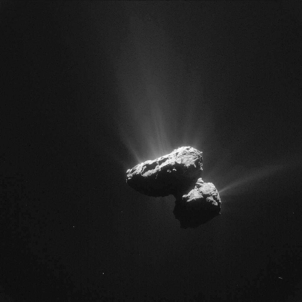 Komeet op 14 juli 2015 vanuit de Rosetta