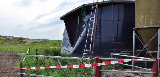 Mestopslag silo in Makkinga waarin in 2013 drie mensen omkwamen door H2S