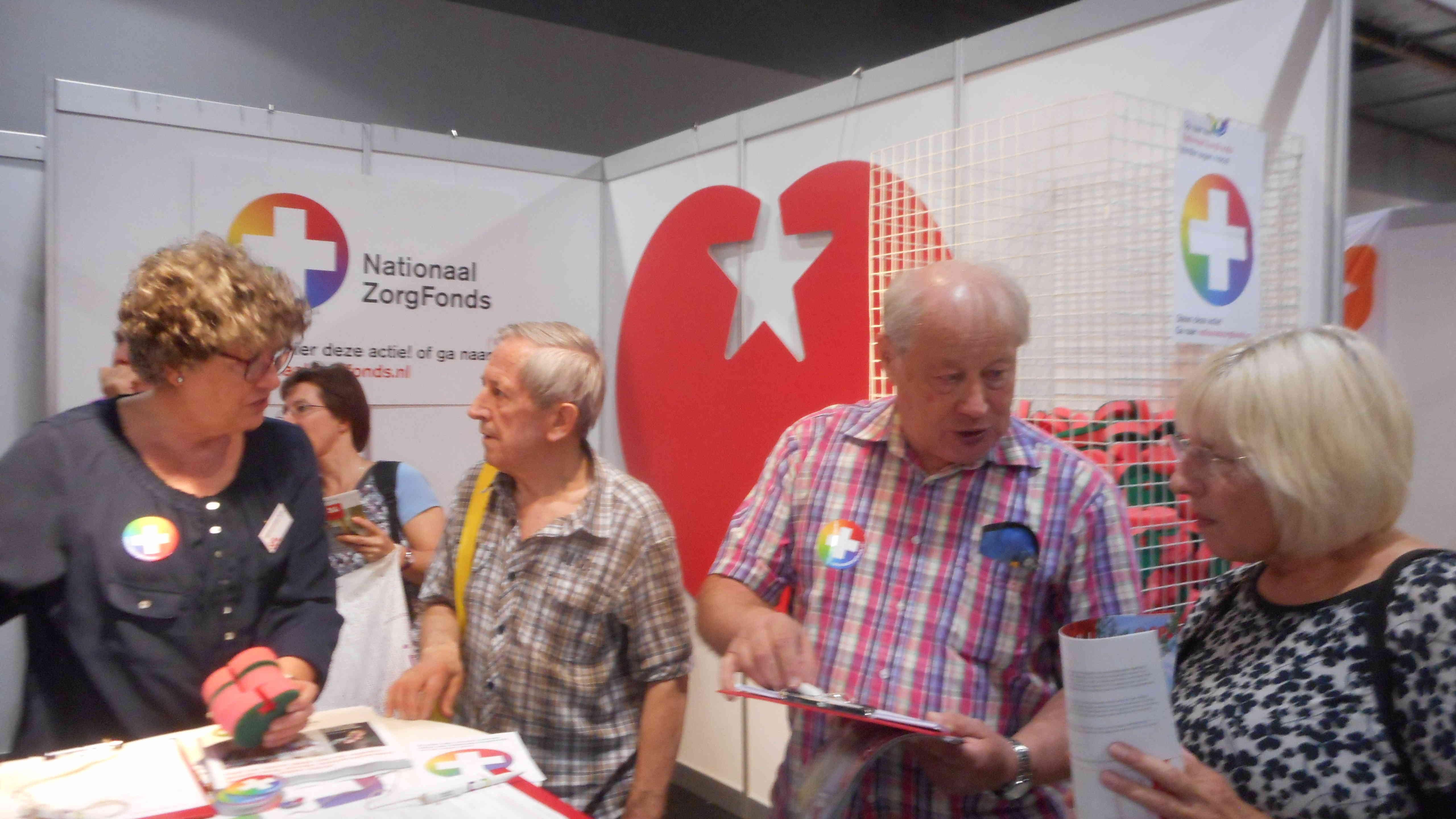 In actie voor het Nationaal zorgfonds op de Ouderenbeurs 2016