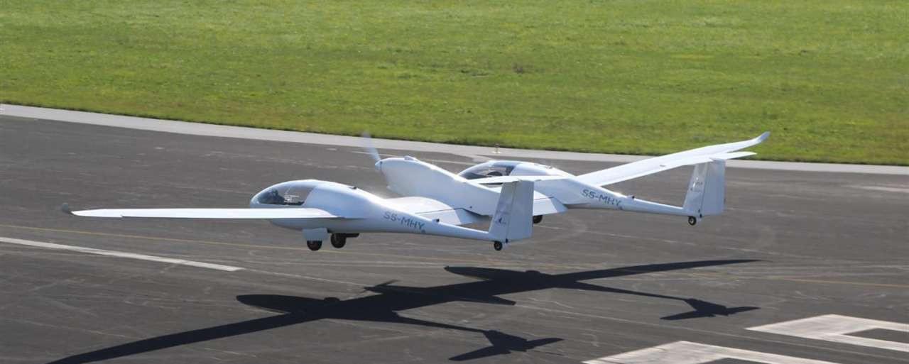 Het waterstofvliegtuig HY4 (DLR)