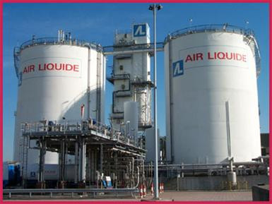Tanks bij Air Liquide