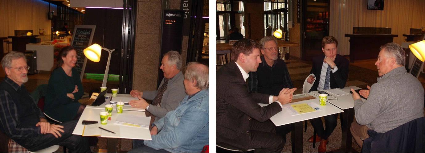 In gesprek in de Tweede Kamer over Eindhoven Airport en het vliegen met Groen Links en D66